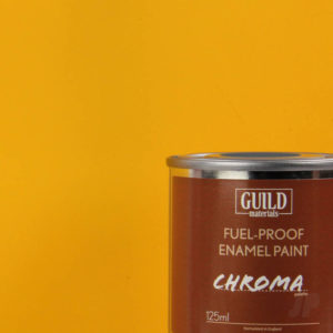 Matt Enamel Fuel-Proof Paint Chroma Cub Yellow (125ml Tin)