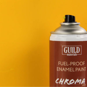 Matt Enamel Fuel-Proof Paint Chroma Cub Yellow (400ml Aerosol)