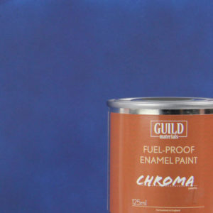 Matt Enamel Fuel-Proof Paint Chroma Dark Blue (125ml Tin)