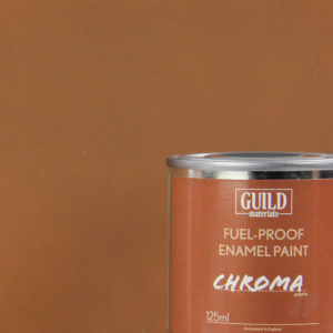 Matt Enamel Fuel-Proof Paint Chroma Dark Earth (125ml Tin)