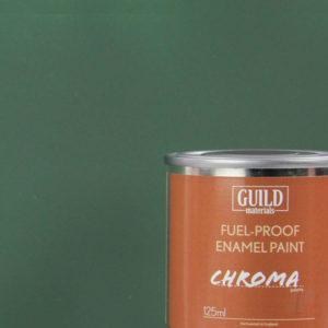 Matt Enamel Fuel-Proof Paint Chroma Dark Green (125ml Tin)