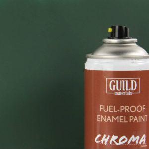 Matt Enamel Fuel-Proof Paint Chroma Dark Green (400ml Aerosol)