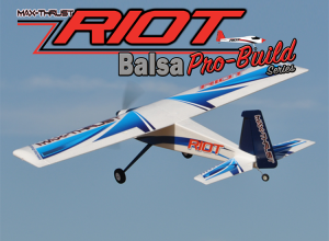 MAX THRUST PRO-BUILT BALSA RIOT KIT BLUE - IC OR ELECTRIC