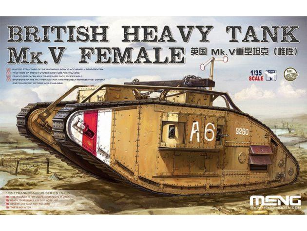 Meng Model 1/35 British Heavy Tank MK V Female # MNGTS-029