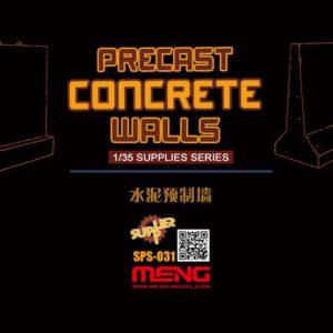 Meng Model 1:35 - Precast Concrete Walls (RESIN)