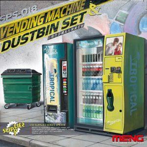 Meng Model Vending Machine and Dumpster Set # 018