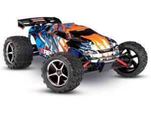 Orange E-Revo 1:16 4X4 Monster Truck (+ TQ, XL-2.5, Titan 550, 6-Cell NiMH, DC Charger) TRX71054
