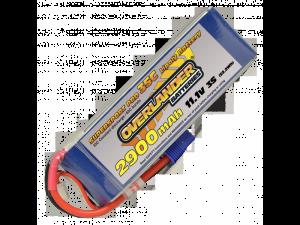 Overlander 2900mAh 3S 11.1v 35C Supersport - EC3 LiPo Battery