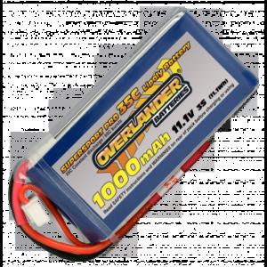Overlander Supersport 1000 3S 11.1v 35C LiPo Battery