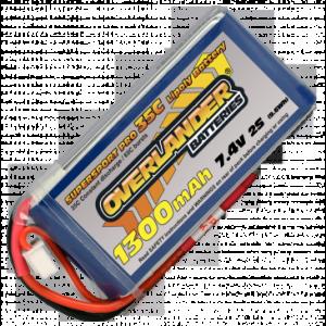 Overlander Supersport 1300 7.4v 35C LiPo Battery