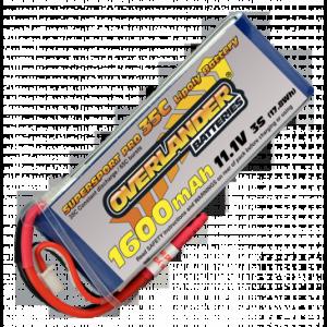Overlander SuperSport 1600 3S 11.1v 35c LiPo Battery