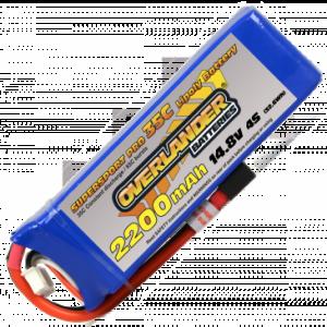 2200mAh 4S 14.8v 35C LiPo Battery - Overlander Supersport Pro