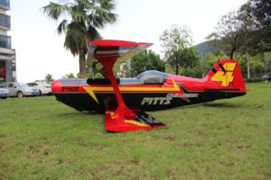 Pilot-RC 87in (40%) Pitts Challenger (RED-BLACK-YELLOW)