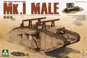Takom WWI British Mk I Male Tank 1:35 PKTAK02031