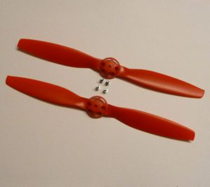 Red Propeller Set (Clockwise & Counter Clockwise Rotation) (2)