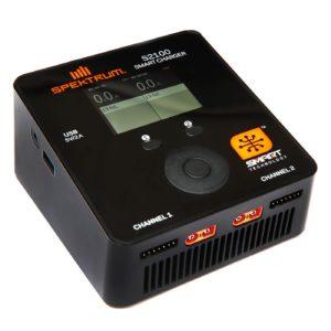 Spektrum Smart S2100 AC Charger 2x100W EU Plug (SPMXC1010I)