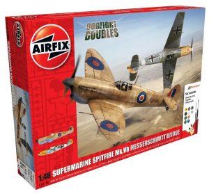 Airfix Supermarine Spitfire MkVb Messerschmitt Bf109E Dogfight Doubles