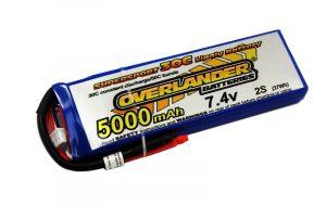 Overlander Supersport 5000 30C 2S 7.4v  LiPo Battery