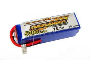 Overlander Supersport 5000 30C 5S 18.5v  LiPo Battery
