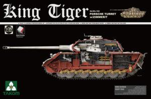 Takom King Tiger, Porsche Turret w/Zimmerit & Interior