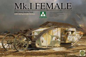 Takom WWI British Mk I Female Tank