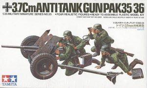 Tamiya 1/35 3.7Cm AntiTank Gun Pak35/36 35035