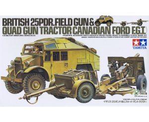 Tamiya 1/35 British 25 Pndr Gun/Quad Kit 35044