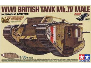 Tamiya 1/35 WWI BRITISH TANK Mk.IV MALE SINGLE MOTOR 30057
