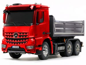 Tamiya Arocs 3348 Tipper Pre-Painted Red/ Silver