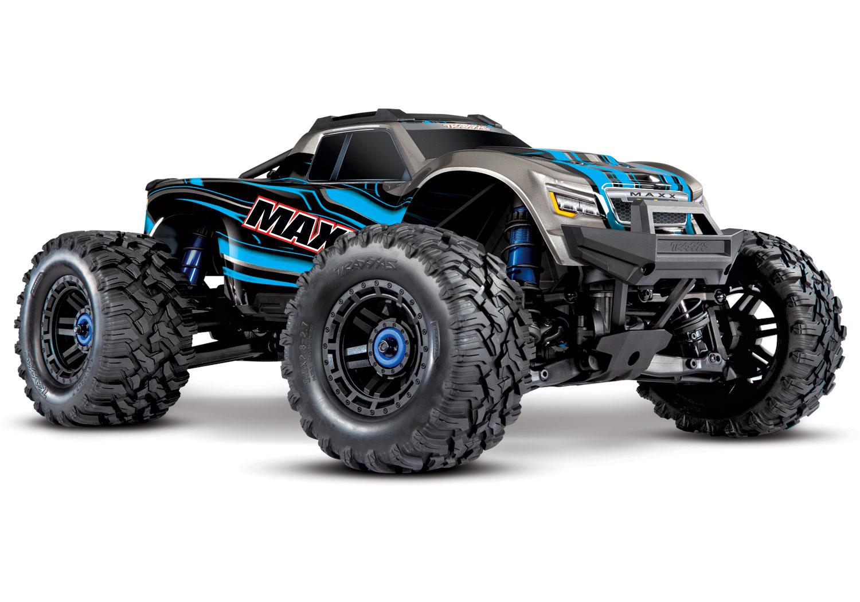 Traxxas Maxx 1/10 4WD VXL (TQi, TSM, No Batt, No Chgr) Blue
