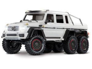 Traxxas TRX-4 6×6 Mercedes G63 White (TQi, LED Lights)(No Batt/Chg) 1
