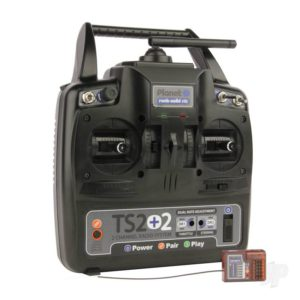 Planet TS2+2 2.4GHz 2-Channel Stick Transmitter with 2 Aux Channels with 6-channel Rx