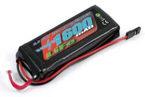 Voltz 1600mAh 2S 6.6v LiFe RX Stick Battery Pack