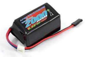 Voltz 2000mAh 2S 6.6v LiFe RX Hump Battery Pack