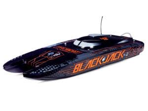 ProBoat Blackjack 42inch 8S Brushless Catamaran RTR - Black/Orange B-PRB08043T1